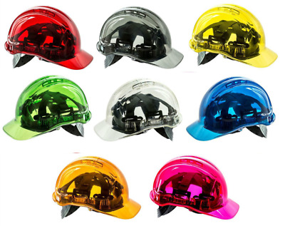 Portwest Peak View Hard Hat Safety Work Helmet Translucent Polycarbonate PV54