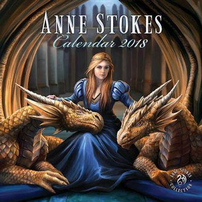 2018 Calendar Anne Stokes Artist Gothic Official Calender Brand New Sealed