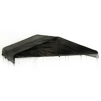 WeatherGuard 10' x 10' Outdoor Dog Run Kennel Enclosure Waterproof Roof Cover