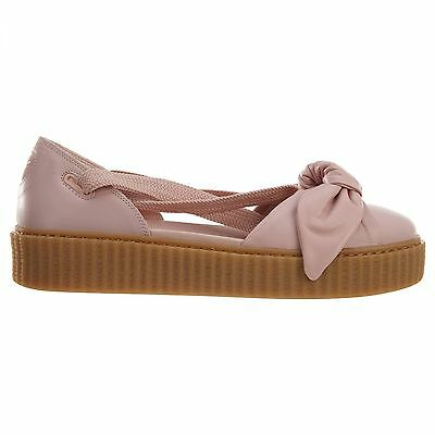brand new e5c99 00a60 PUMA FENTY BOW Creeper Womens 365794-01 Silver Pink Oatmeal Bow Sandals  Size 10