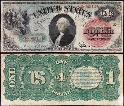 "NICE *RARE* Bold Color 1869 $1 ""RAINBOW"" US Note! FREE SHIPPING! K6208312*"