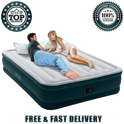 Airbed Built In Electric Pump Queen Size 16 In Height Dura-Beam Series 110 120 V