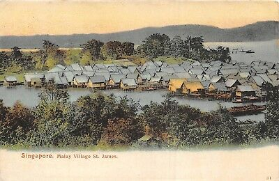 POSTCARD   SINGAPORE   Malay   Village   St   James