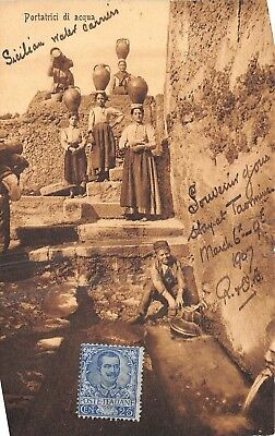 POSTCARD    ITALY  SICILY   Social  History    Water  Carriers