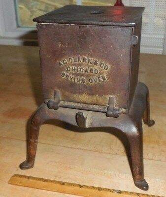 Vintage A.c. Clack Co Chicago Cast Iron Dental Dentist Dentures Drying Oven Kiln