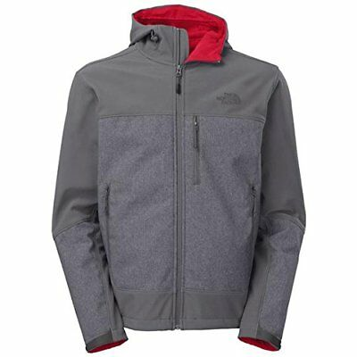The North Face Men's Apex Bionic Hooded Soft Shell Jacket Coat Grey X-Large XL