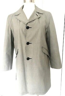 983e5f09a14 60s vintage overcoat Sears remov lining all weather raincoat b w check ...