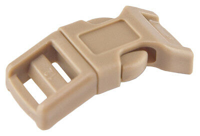 100 - 1/2 Inch Coyote Tan Economy Contoured Side Release Plastic Buckles