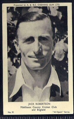 A&bc-All Sports (M120)-#091- Cricket - Middlesex - Jack Robertson