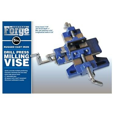 Central Forge 5 in. Rugged Cast Iron Drill Press Milling Vise Turn drill press
