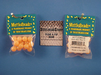 Troutbeads Mottled Cream 6mm Trout  Bead Egg $2.50 US Combined Shipping*