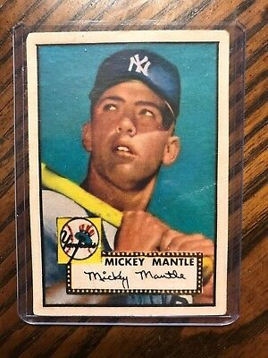 1952 Topps Mickey Mantle Rookie Baseball Card
