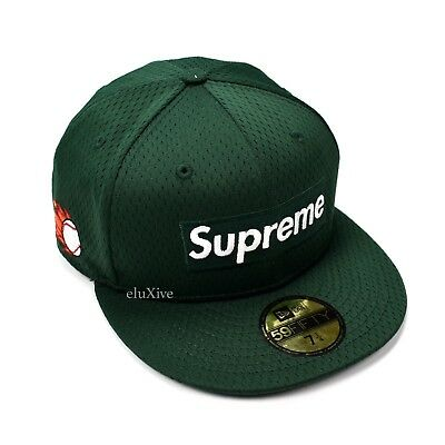 54b50bb9 NWT SUPREME NEW Era Dark Green Box Logo Mesh Fitted Hat Cap 7 1/4 SS18  AUTHENTIC - $139.00 | PicClick