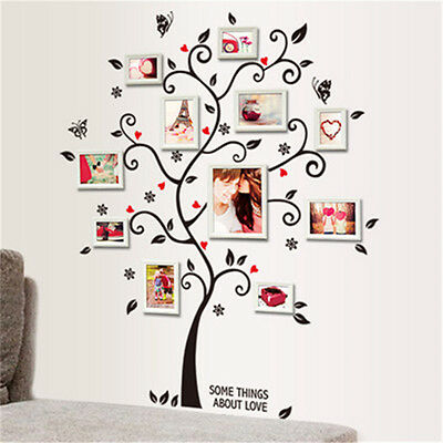 Family Tree Wall Decal Sticker Large Vinyl Photo Picture Frame Removable Fashion
