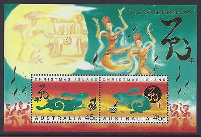 Christmas Island 1999 Year of the Rabbit MS MNH
