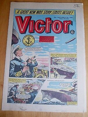 Hms Yarmouth & Sopwith Pup Down Zeppelin  North Sea Ww1 Cover Story Victor 1981