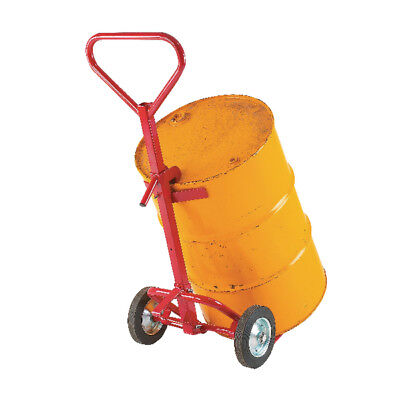 Drum Truck Red 250mm Rubber Tyres