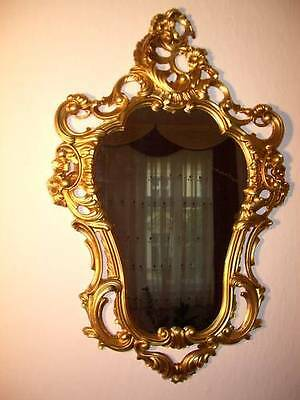Antique Baroque Wall Mirror Gilt White Black Silver Ornate Rococo 118