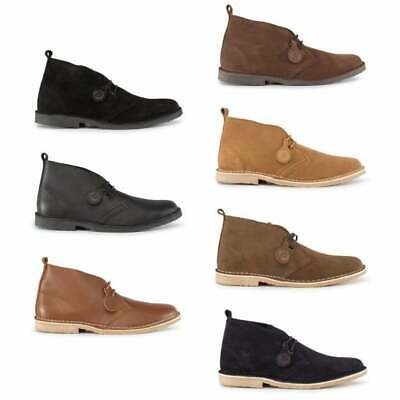 Popps ORIGINAL Unisex Mens Ladies Womens Suede Or Leather Lace Up Desert Boots