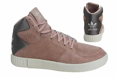 Adidas Tubular Invader 2.0 Lace Up Salmon Pink Womens Trainers S80555 D104