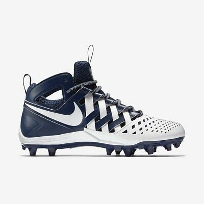 Nike Huarache V LAX Lacrosse Football Cleats Navy/White 807142-410 MEN'S 9.5
