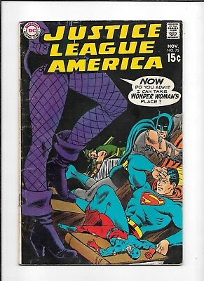 Justice League Of America #75 ==> Gd/vg Black Canary Joins Jla Dc Comics 1969