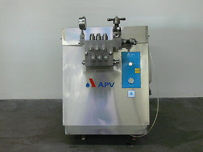 APV GAULIN Model M3S-3TBS Stainless Steel Homogenizer 222 Gallons /hr @ 1000psi