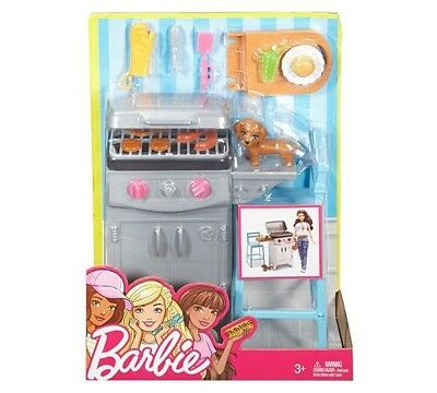 Barbie Möbel Grill-Set Dvx48