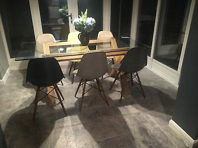 X6 Original vintage Herman Miller Eames Fibreglass Chairs Rare Colours inc table