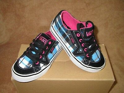 60f0cc76cde9bd New Vans Tory Metallic Box Plaid Shoe Blk blue pink wht Youth 10.5