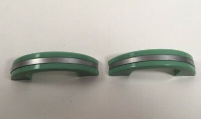 Vintage Plastic Drawer Pulls Jadeite Green Chrome Metal Art Deco X2 + More Avail