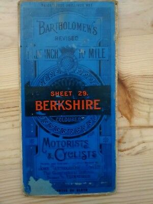 Bartholomews Half Inch Map Berkshire Sheet 29 on Cloth