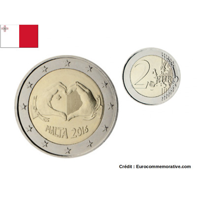 2 Euro Commemorativi Malta 2016 '' Chest Fund  ''