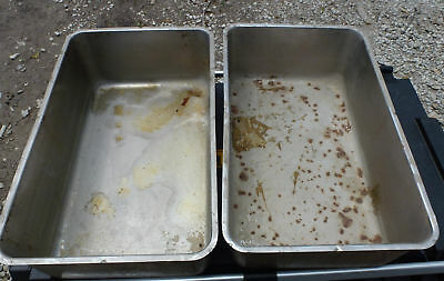 """LOT 2 Stainless Steel Full Size 6"""" Deep Steam Table Water Insert Pan"""