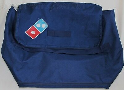 "NEW Large Dominos Pizza Replacement Shell Delivery Bag Blue 23"" x 20"" x 14"""