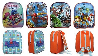 Childrens Kids Boys Girls Junior Back Pack Back To School Nursery Holiday Picnic