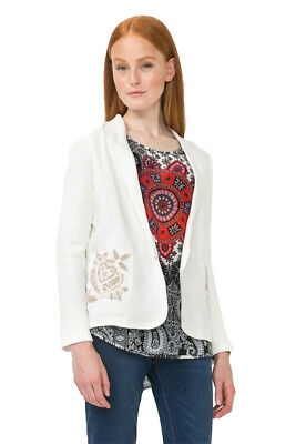 Desigual Grey Cord Silver Embroidery /& Knit Jacket 36-46 UK 8-18 RRP £119