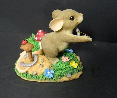 Charming Tails Give Love A Shot Bunny Rabbit Retired Fitz and Floyd Figurine