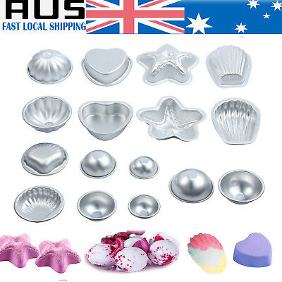1 Set DIY Mold Half Sphere Metal Bath Bomb Fizzy Craft Cake Candle Mould 8 Types