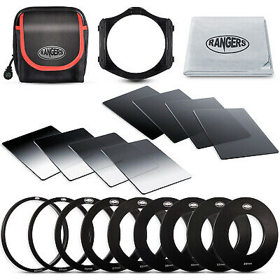 Rangers 19in1 Neutral Density ND Filter Kit + 49-82mm Adapter for Cokin P RA14