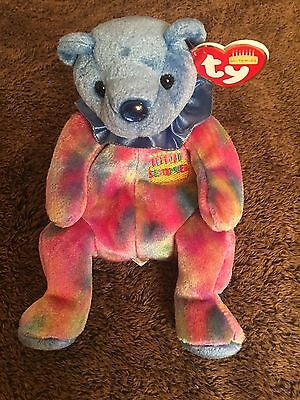 Ty Beanie Babies 2001 September Blue Birthday Bear Tag Excellent PE