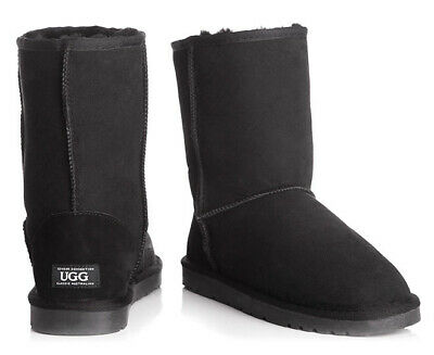 OZWEAR Connection Classic 3/4 Ugg Boot - Black