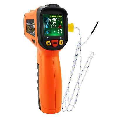 Non-contact Infrared IR Laser Thermometer Temperature Gun w/ K-Type Thermocouple