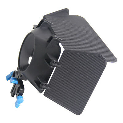 KQ_ DSLR Camera Matte Box for 15mm Rail Rod Photography Accessory for Canon 60D
