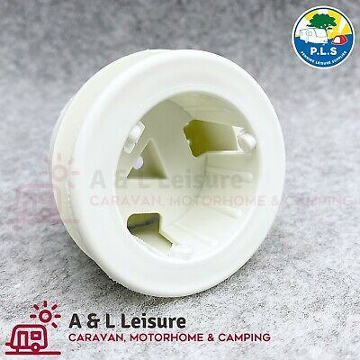13 Pin Adjustable Parking Plug / Holder Caravan, Towing Electrics FIAT White