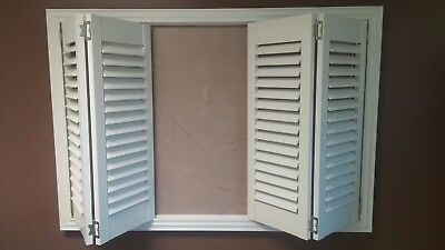 NEW Faux Wood Plantation Shutters, Bermuda Shutters, Window, Plantation Style