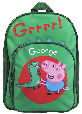 Peppa Pig George Pig Backpack Boys Dinosaur School Nursery Travel Lunch Bag