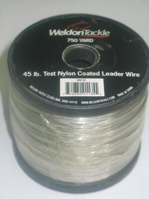 Spool Of 45lb Test Nylon Coated Leader Wire 750 yds New In Package