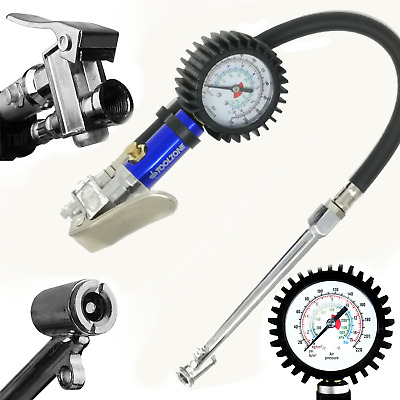 Bluespot Professional Garage Air Line Tyre Pump Inflator With Pressure Gauge