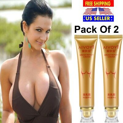 2 X Bust Boost Breast Enlargement Cream Grow Big Size Bouncy Boobs Full Cleavage